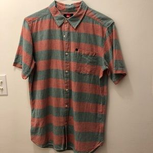 Quiksilver Button Down Striped Shirt